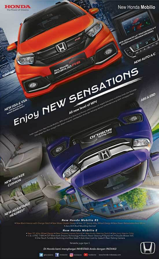 Promo Mobilio Enjoy New Sensations