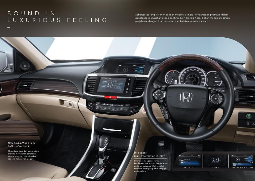 Interior Honda Accord - Mobil Sedan Premium Honda