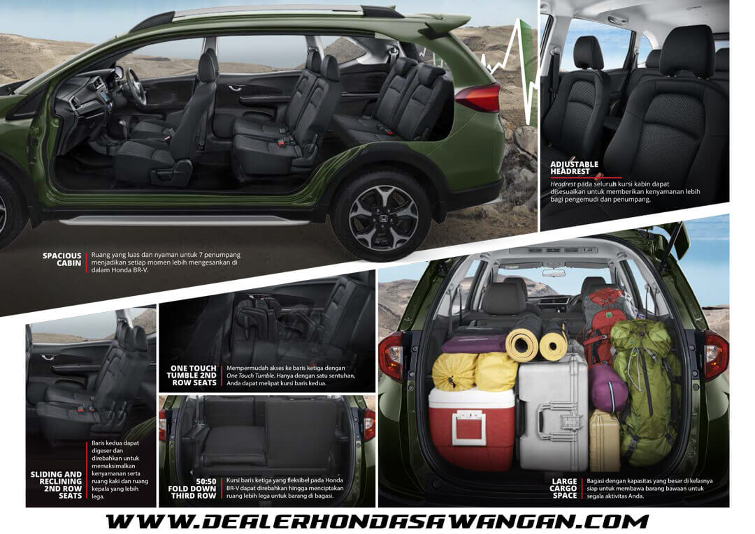 Kabin Honda BRV - Mobil SUV yang memiliki Kabin Paling Luas dikelasnya