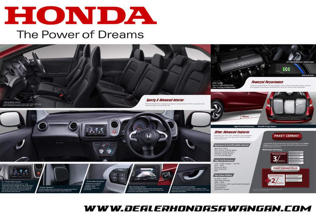 Sporty Interior Honda Mobilio RS