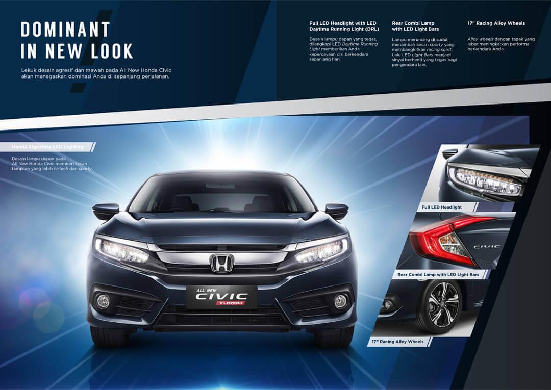 Eksterior Honda Civic Turbo